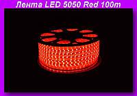 LED 5050 Red 100m 220V,Декоративная подсветка LED