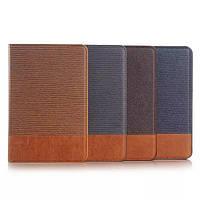Чехол книжка с кожаными вставками на Samsung Galaxy Tab S2 8.0 (4 цвета)