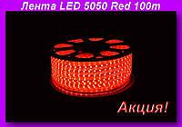 LED 5050 Red 100m 220V,Декоративная подсветка LED!Акция