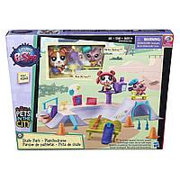 Игровой набор Hasbro Littlest Pet Shop Skate Park Скейт парк Маленький зоомагазин