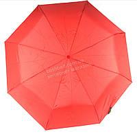 Женский симпатичный прочный зонтик автомат art. 5302 красный  (100248)