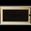 Решетка для камина оскар медный, оскар золото 17х30 см с жалюзи