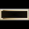 Решітка для каміна оскар мідний, оскар золото 17х49 см без жалюзі