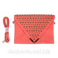 Женский очень нарядный клатч 13357corall распродажа сумок