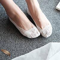 Кружевные тапочки носочки (Белые)