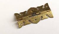 Петля под золото с пружинкой для шкатулки