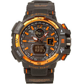Спортивные часы Casio G-Shock  GWA-1100 BLACK-ORANGE  (касио джи шок)