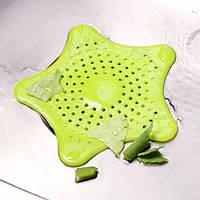 Силіконова решітка для раковини Морська Зірка Green  / Силиконовая решетка для раковины Морская Звезда Зеленая
