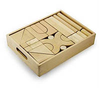 Деревянный конструктор Строительные блоки 48 деталей 59166 Viga Toys