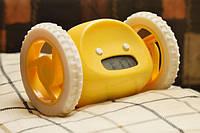 Втікаючий годинник таймер на колесах жовтий / Убегающий Будильник на Колесах желтый