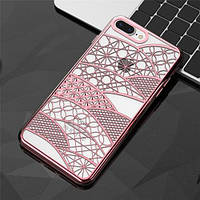 Силиконовый чехол Geometric Harmony Розовый для iPhone 7
