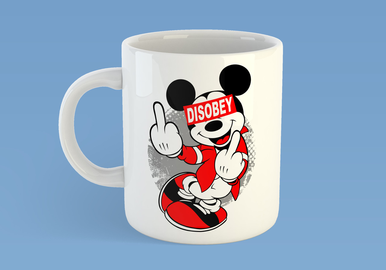 "Кружка ""Disobey Mickie Mouse"""