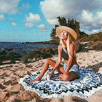 Пляжний килимокМандала Bohemia(циновка для пляжу + парео) /Пляжный коврик Мандала Богемия, 160 см