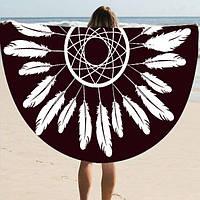Пляжний килимок Пір'їни (циновка для пляжу + парео) / Пляжный Коврик Перья
