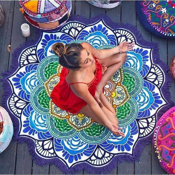 Пляжний Килимок Яскрава Мандала (циновка для пляжу + парео) / Пляжный Коврик Яркая Мандала, 150 см