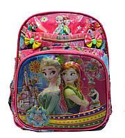 """Красивый рюкзак в школу для девочки в 3D изображении """"Холодное сердце"""""""
