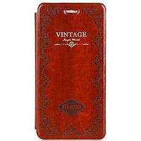 Кожаный чехол Vintage Mosso Book Brown Коричневый для iPhone 6/6s