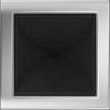 Решетка для камина никелированная, шлифованная 17х17 см без жалюзи