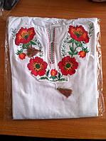 Трикотажная вышиванка лонгслив на девочку 116