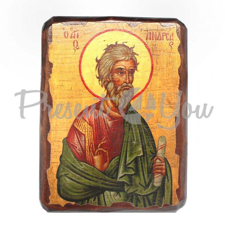 Деревянная икона Святого Андрея, 17х13 см (814-1027)