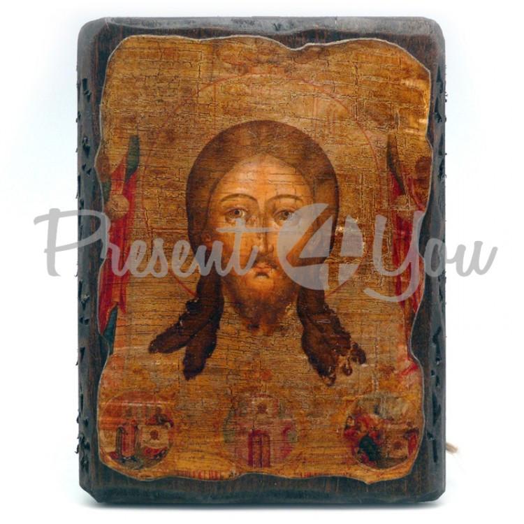 Деревянная икона Спасителя «Спас Нерукотворный», 17х13 см (814-1017)