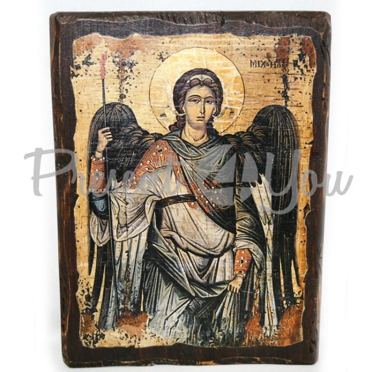 Деревянная икона Архангел Михаил, 17х13 см (814-1018)