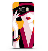 Оригинальный чехол бампер для Samsung Galaxy S8 с картинкой Девушка