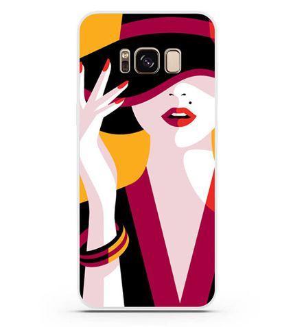 Купить Оригинальный чехол бампер для Samsung Galaxy S8 с картинкой Девушка