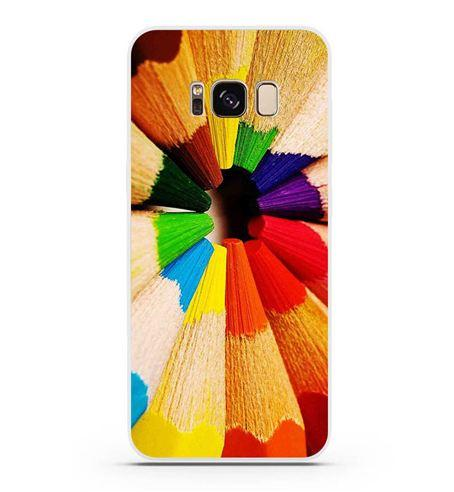 Оригинальный чехол бампер для Samsung Galaxy S8 с картинкой Карандаши