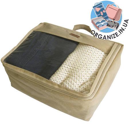 Средняя дорожная сумка для вещей ORGANIZE (бежевый)