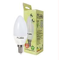 Светодиодная лампа Е14, 6W (Свеча), 4000К