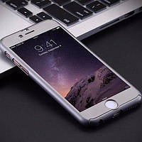 Пластиковый чехол Полная защита Серебро для IPhone 6/6s