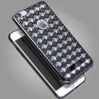Силиконовый чехол Luxury Diamond Black Черный для iPhone 7