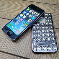 Силиконовый чехол Luxury Diamond Black Черный для iPhone 5/5s/5se