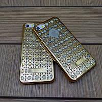 Силиконовый чехол Luxury Diamond Gold Золото для iPhone 5/5s/5se