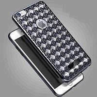 Силиконовый чехол Luxury Diamond Black Черный для iPhone 6/6s