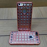 Силиконовый чехол Luxury Diamond Rose Gold Розовое Золото для iPhone 5/5s/5se