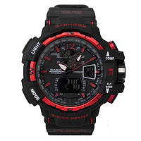 Спортивные часы Casio G-Shock GWA-1100 BLACK-RED (касио джи шок)
