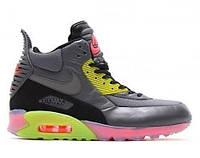 Мужские кроссовки Nike Air Max 90 SneakerBoot Ice Dark Grey/Black/Force Green/Hyper