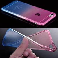 Силиконовый чехол 2х цветный Розовый с голубым для iPhone 7 Plus