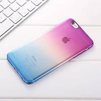 Силиконовый чехол 2х цветный Фиолетовый с голубым для iPhone 7 Plus