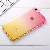 Силиконовый чехол 2х цветный Розовый с желтым для iPhone 7 Plus