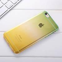 Силиконовый чехол 2х цветный Зеленый с желтым для iPhone 7 Plus