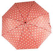 Женский симпатичный стильный прочный механический дешевый зонтик SWIFTs art. 301A розовый в горошек (100241)