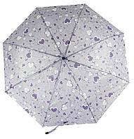 Женский симпатичный стильный прочный механический дешевый зонтик SWIFTs art. 301A сиреневый (100240)