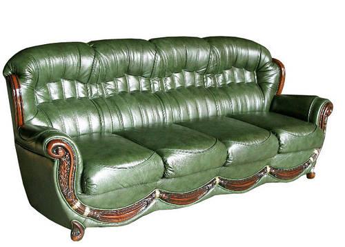 """Кожаный четырехместный раскладной диван """"Джове"""" (240см)"""