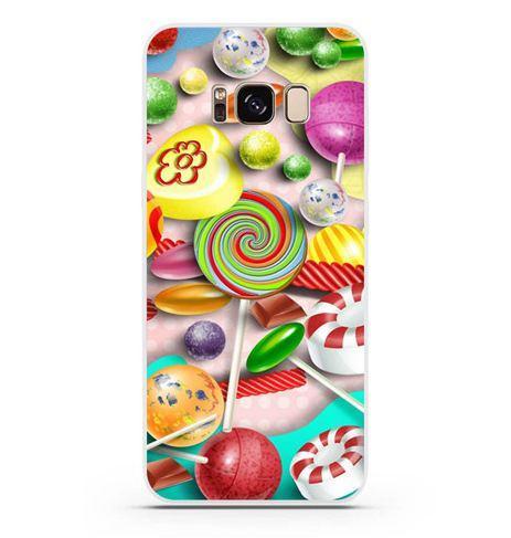Чехол бампер с картинкой для Samsung Galaxy S8 Конфеты