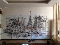 Красочное граффити оформление интерьера