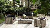 Диван 1,6м Тоскана-2 Мебель садовая из натурального дерева