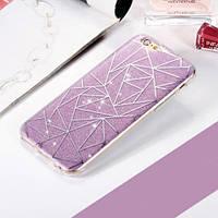 Силиконовый чехол Звездный блеск Фиолетовый для IPhone 6/6s
